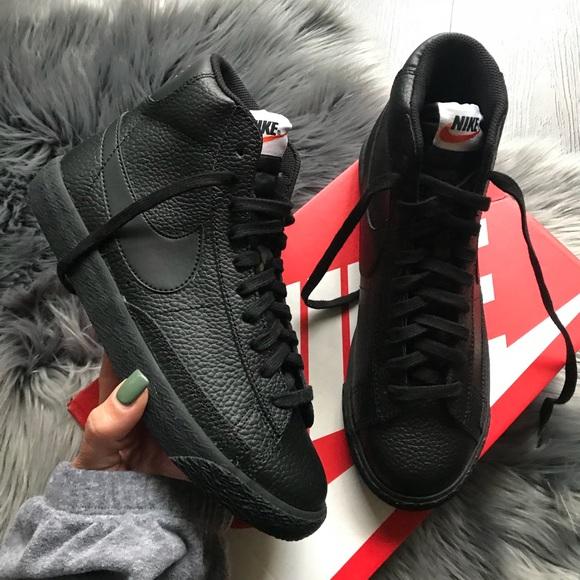 nike blazer all black leather Shop